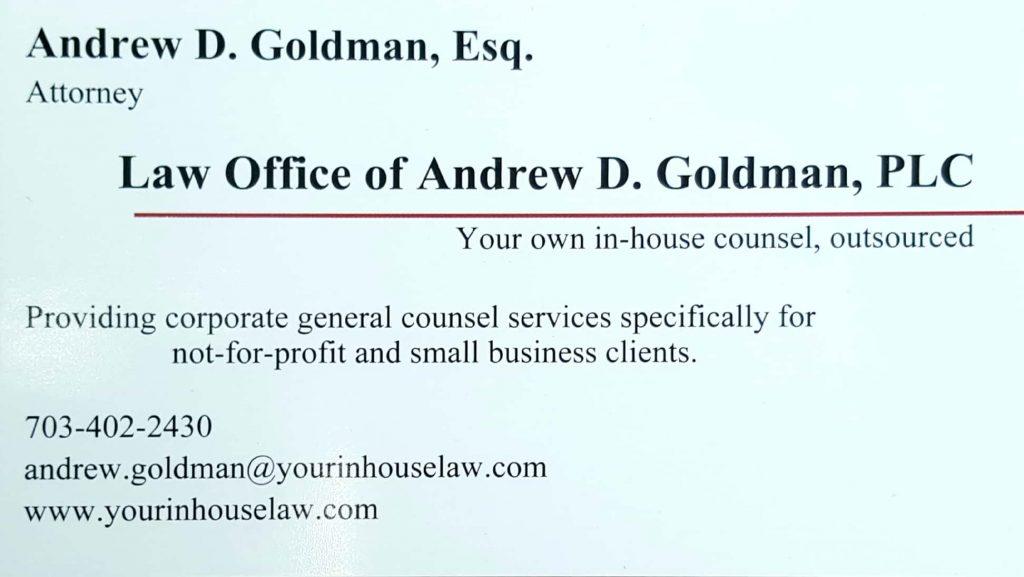 Andrew D Goldman, Esq.