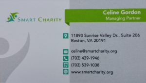 Celine Gordon – Smart Charity 703.439.1946 – celine@smartcharity.org