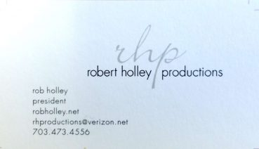Robert Holley Robert Holley Productions 703-473-4556 rhproductions@verizon.net